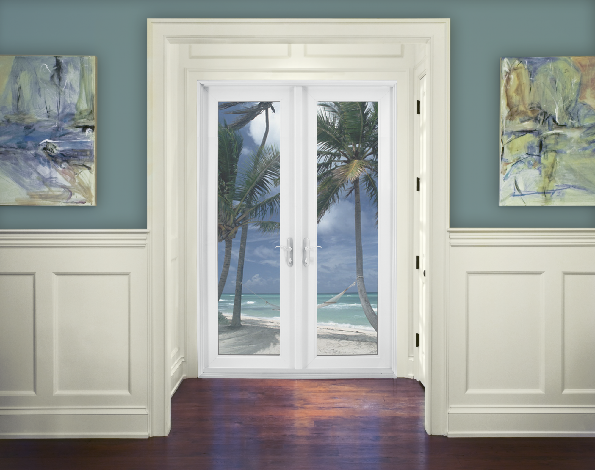 Premium Atlantic Vinyl Swinging Patio Door